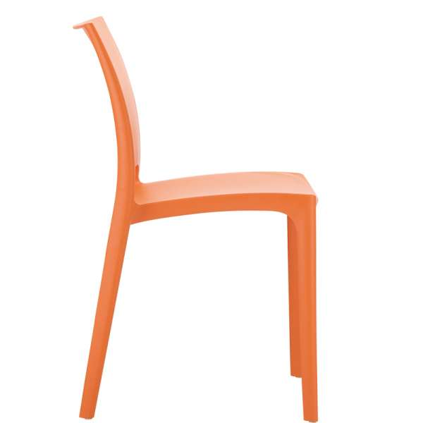 Chaise de jardin polypropylène orange- Maya - 26
