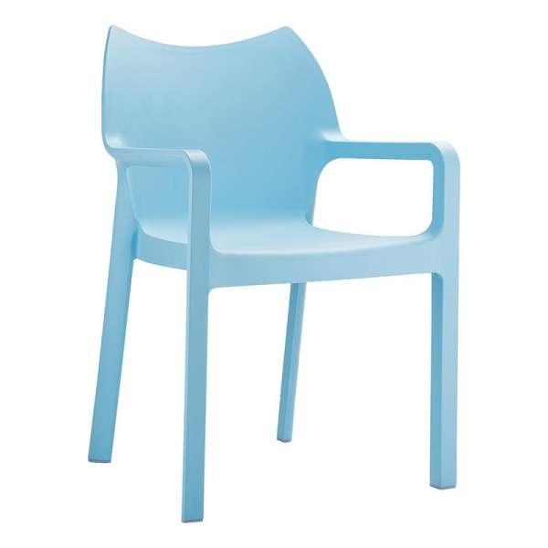 Fauteuil de jardin en polypropylène bleu ciel - Diva - 5