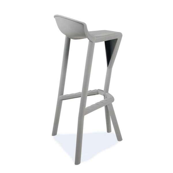 Tabouret de jardin design en plastique gris - Shiver 3 - 10