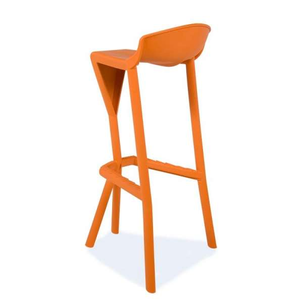 Tabouret de jardin design en technopolymère orange - Shiver 3 - 20