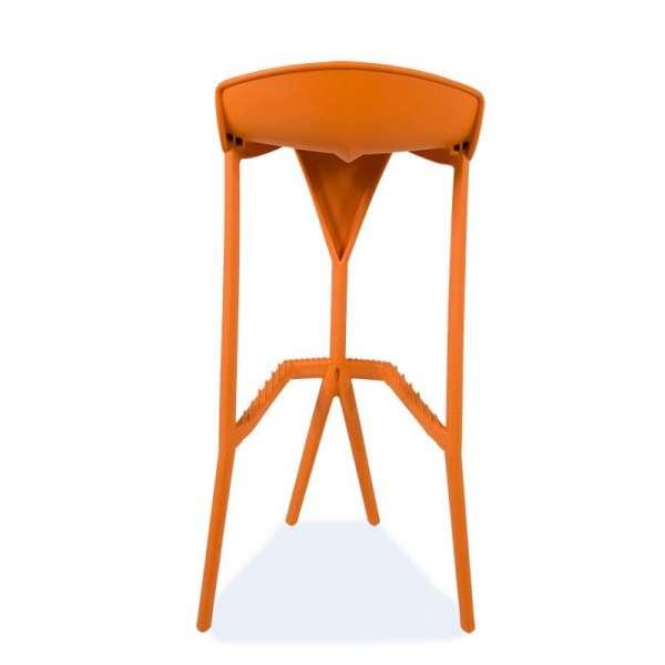 Tabouret de jardin en plastique orange - Shiver 4 - 21