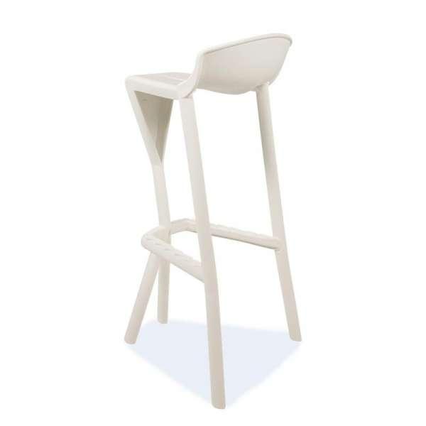Tabouret de jardin design en plastique blanc - Shiver 2 - 26
