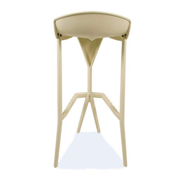 Tabouret de jardin design en plastique beige - Shiver 3 - 30