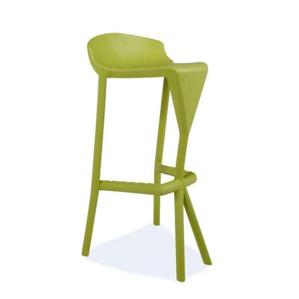 Tabouret de jardin design en plastique vert - Shiver - 12