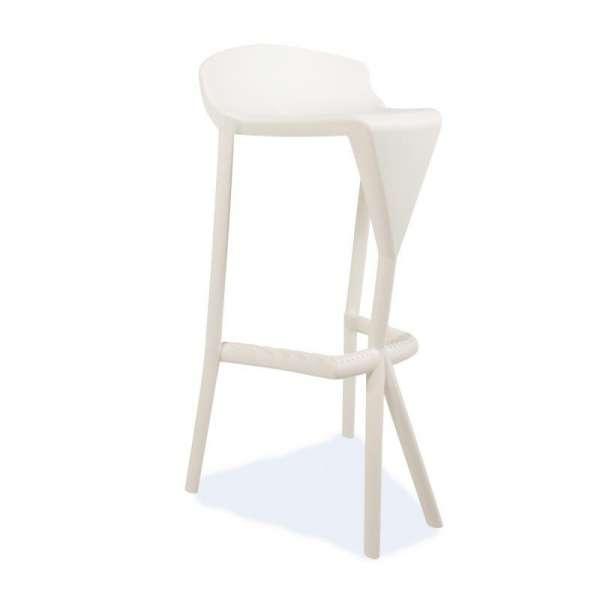 Tabouret de jardin en plastique blanc - Shiver - 25