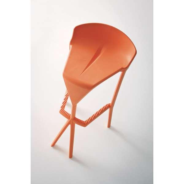 Tabouret de jardin en plastique orange - Shiver - 18