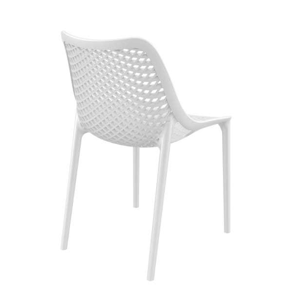 Chaise de jardin moderne ajourée en plastique blanc - Air - 34