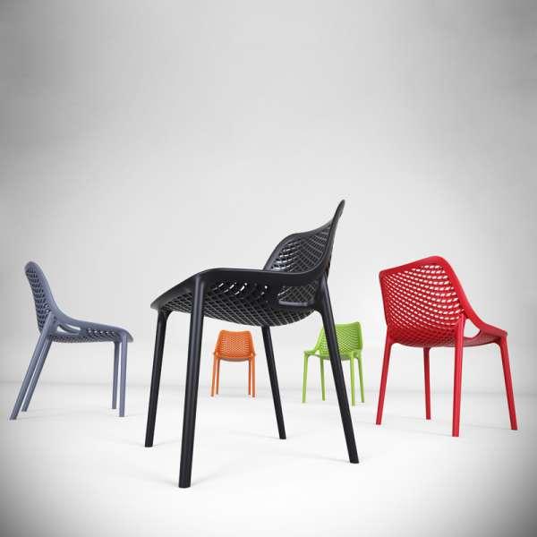 Chaise de jardin moderne ajourée - Air - 6