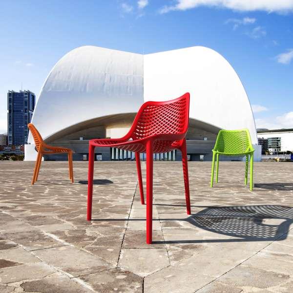 Chaise de jardin moderne ajourée en polypropylène - Air - 2