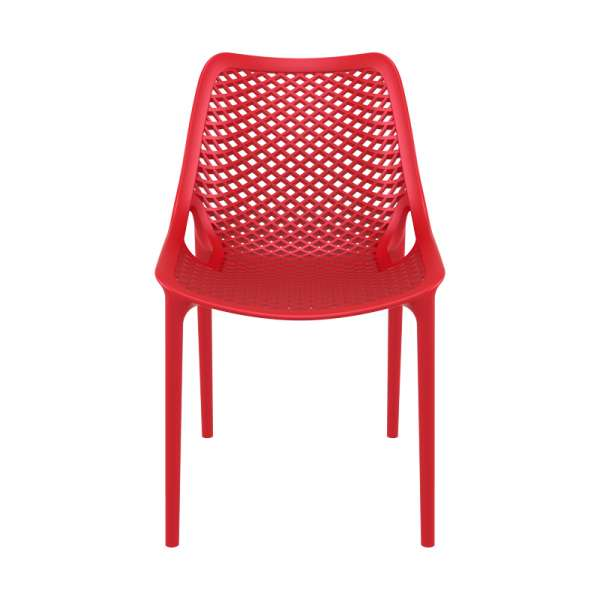 Chaise de jardin moderne ajourée plastique rouge - Air - 21