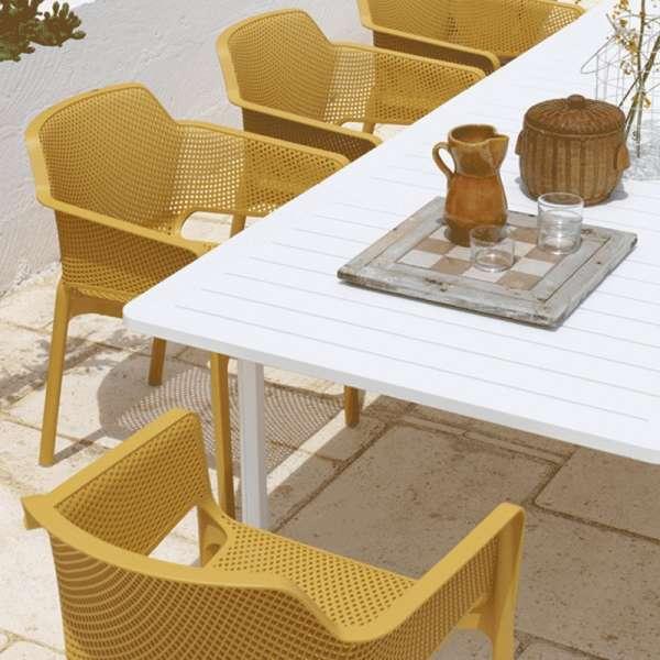 Fauteuil de terrasse moderne teinte moutarde - Net - 10