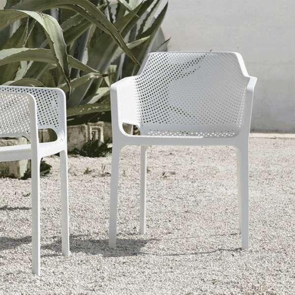 Fauteuil de terrasse moderne en polypropylène blanc - Net - 5