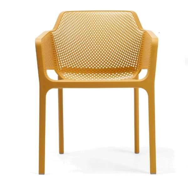 Fauteuil de terrasse moderne jaune moutarde - Net - 22