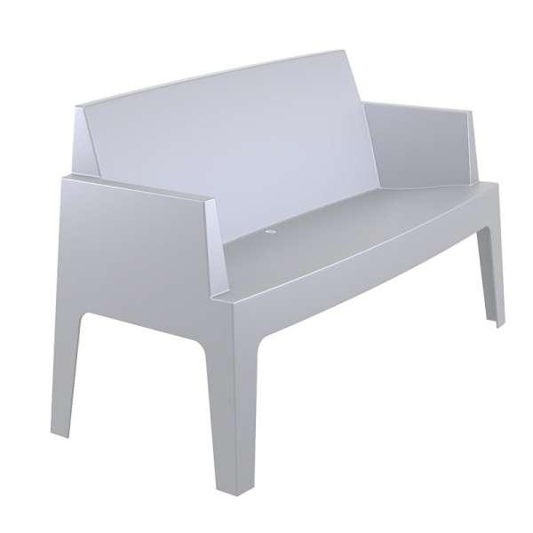 Banquette de jardin en polypropylène silver - Box Sofa - 12