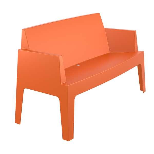 Banquette de jardin en polypropylène orange - Box Sofa - 7