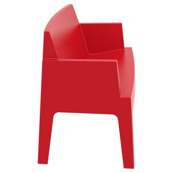 Banquette de jardin en plastique  rouge - Box Sofa - 6
