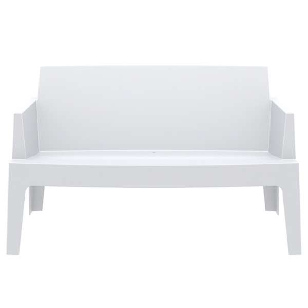 Banquette de jardin en polypropylène blanc - Box Sofa - 10