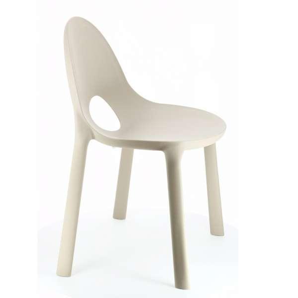 Chaise d'extérieur en plastique sable - Drop Infiniti® - 5