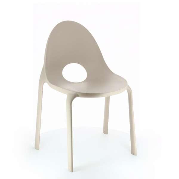 Chaise d'extérieur en polypropylène sable- Drop Infiniti® - 4