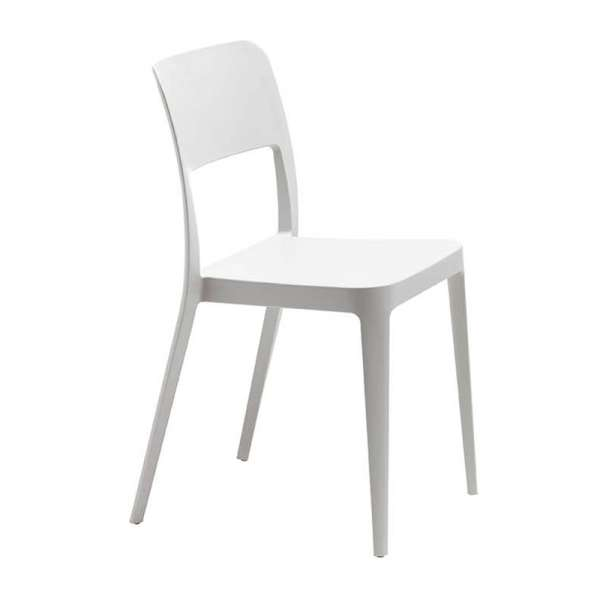 Chaise de terrasse en polypropylène blanc - Nené Midj® - 3