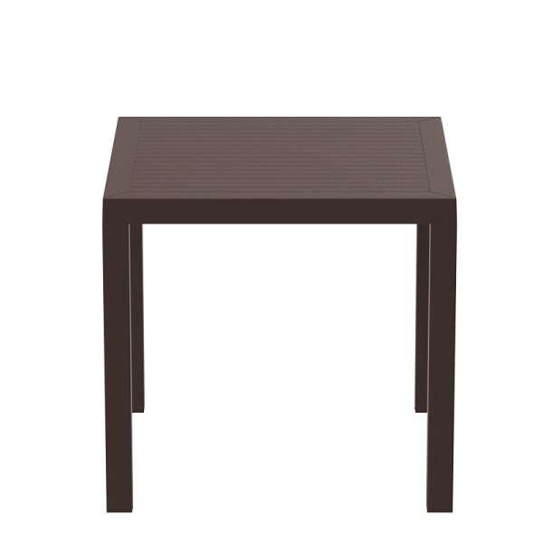Table de terrasse carrée marron - Ares - 8