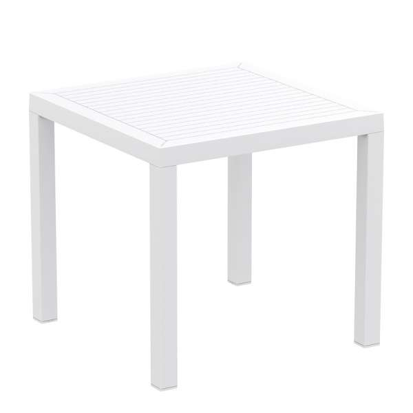 Table de terrasse carrée en polypropylène blanc - Ares - 13
