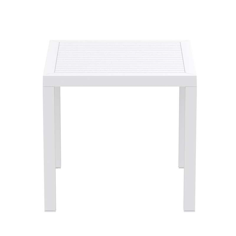 Table de terrasse carrée en résine - Ares | 4-pieds.com