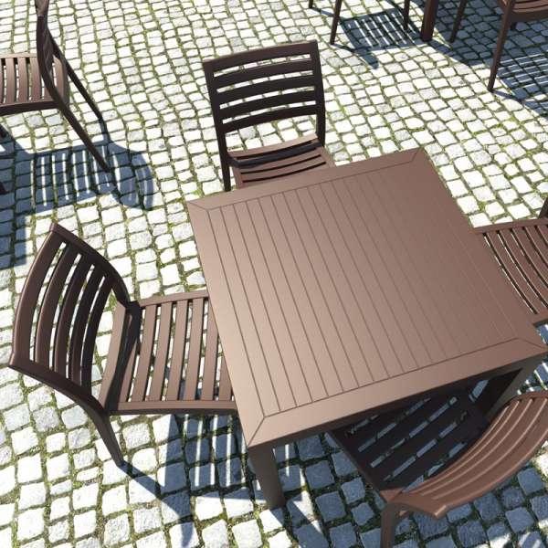 Table de terrasse carrée en polypropylène - Ares - 4