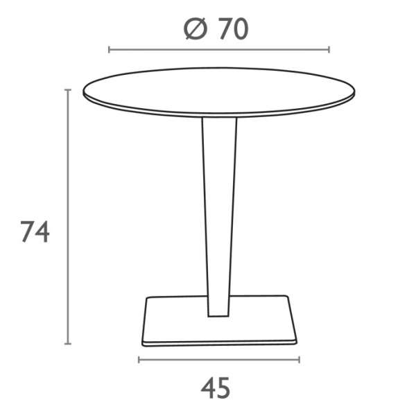 Table de jardin ronde en résine tressée et plateau werzalit - Riva - 4