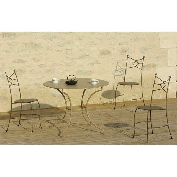 Table de terrasse en métal - Seringua - 1