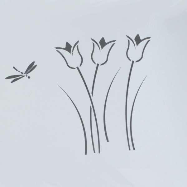 Table de terrasse en métal motif libellule - Seringua - 3