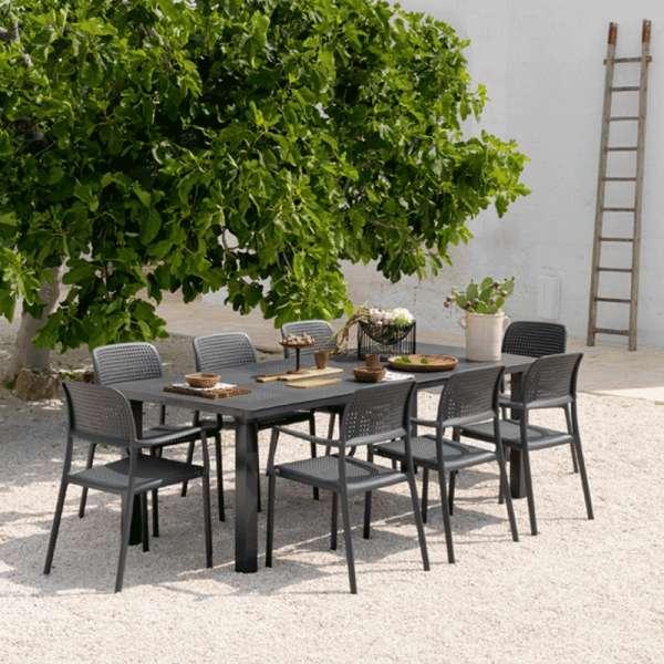 Salon de jardin en polypropylène et aluminium - Levante Bora