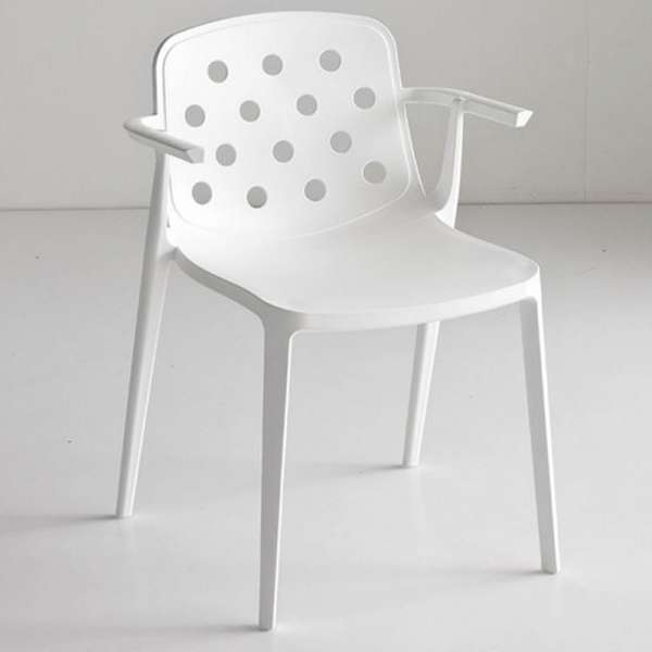 Chaise d'extérieur moderne avec accoudoirs en technopolymère - Isidora - 3