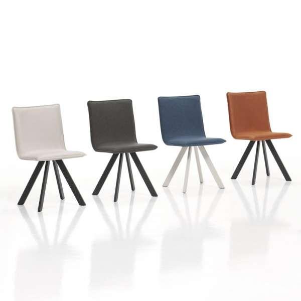Chaise moderne en tissu et métal - Denia - 1