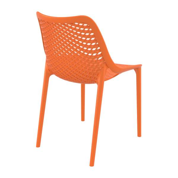 Chaise orange moderne ajourée en polypropylène - Air - 17
