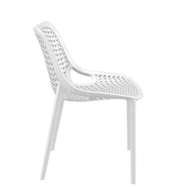 Chaise blanche moderne ajourée en polypropylène - Air - 22