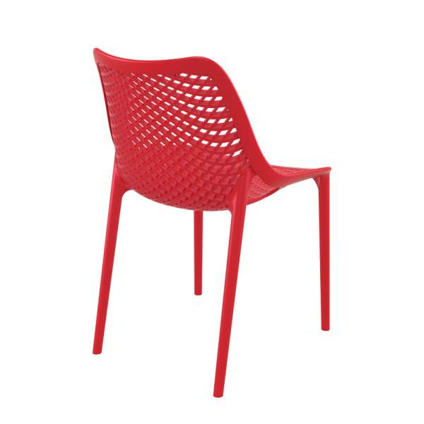 Chaise rouge ajourée en polypropylène - Air - 7