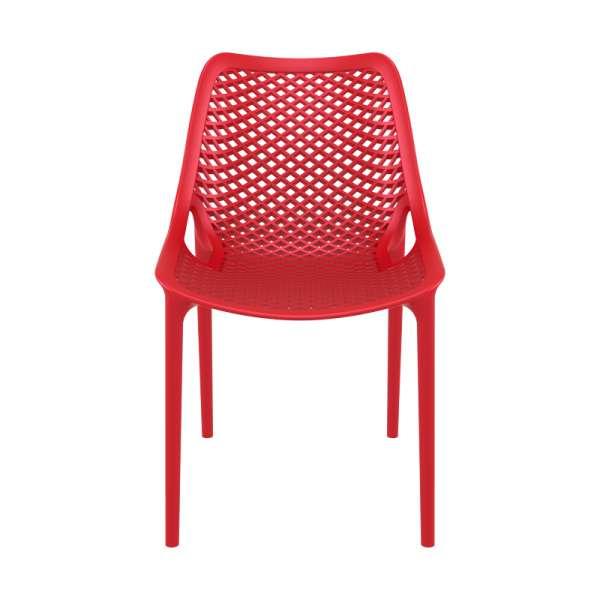 Chaise rouge moderne ajourée en polypropylène - Air - 8