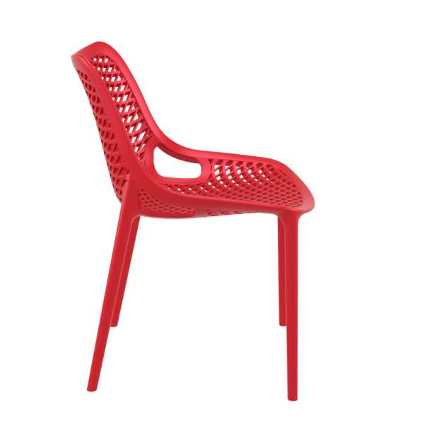 Chaise rouge en polypropylène - Air - 6