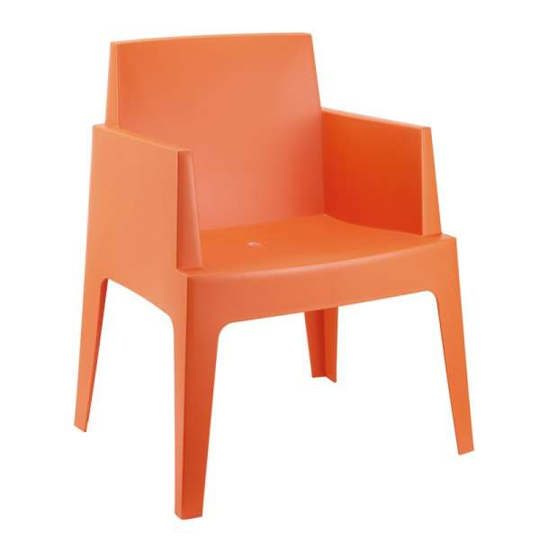 Fauteuil moderne en polypropylène orange - Box - 13
