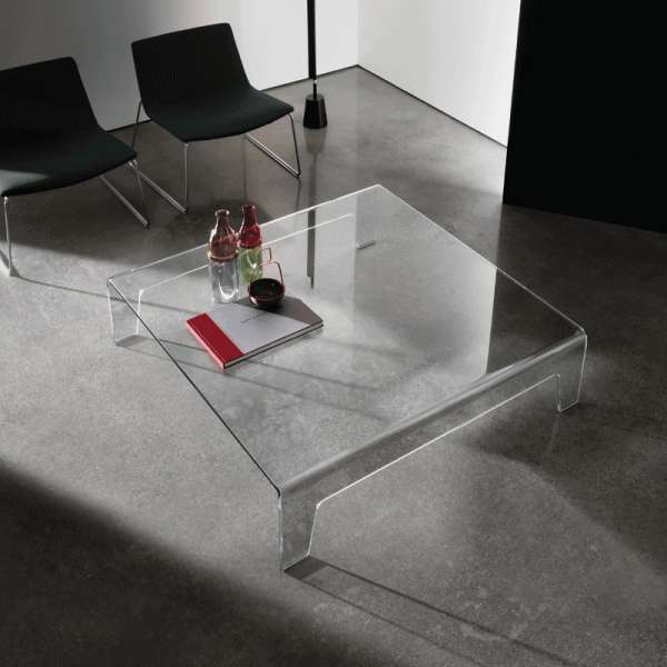 Table basse design carrée en verre - Frog Sovet® - 1