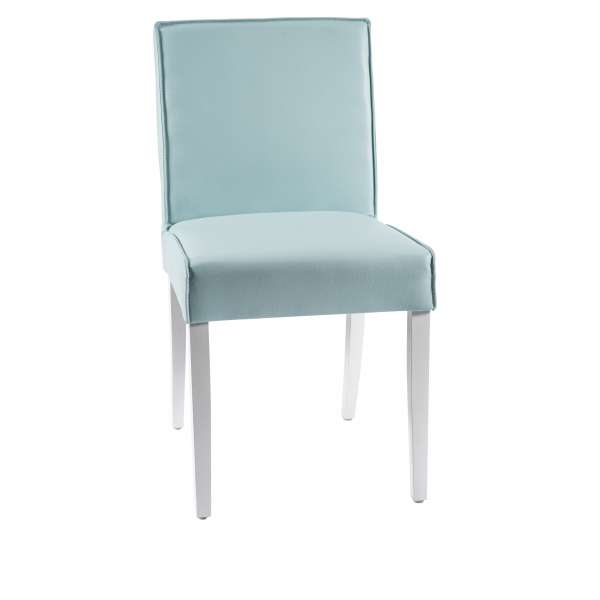 Chaise confortable en vinyle et bois - Carpe - 1