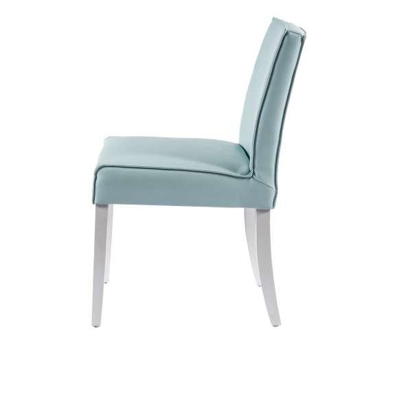 Chaise moderne en vinyle et bois - Carpe - 3