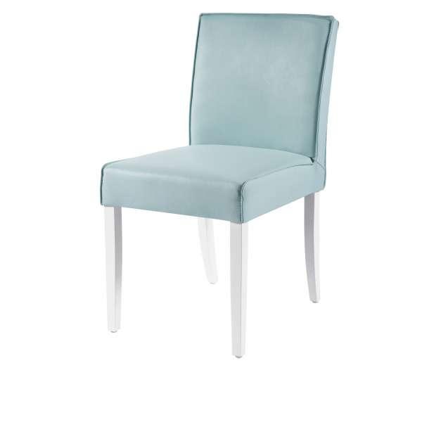 Chaise contemporaine en synthétique et bois - Carpe