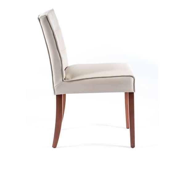 Chaise blanche matelassée - Carpe - 3