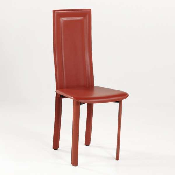 Chaise de salle à manger en cuir - Tess - 1