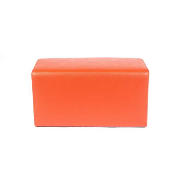 Pouf rectangulaire orange - Max Q78 - 1