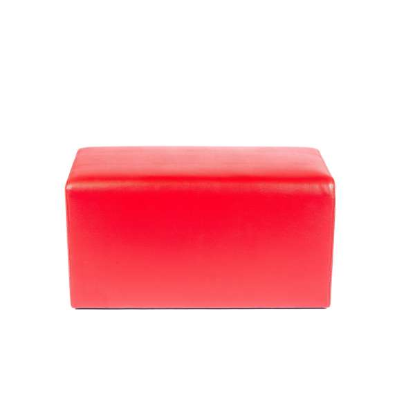 Pouf rectangulaire rouge - Max Q78 - 10