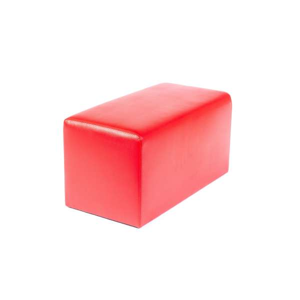 Pouf rectangulaire contemporain rouge - Max Q78 - 12