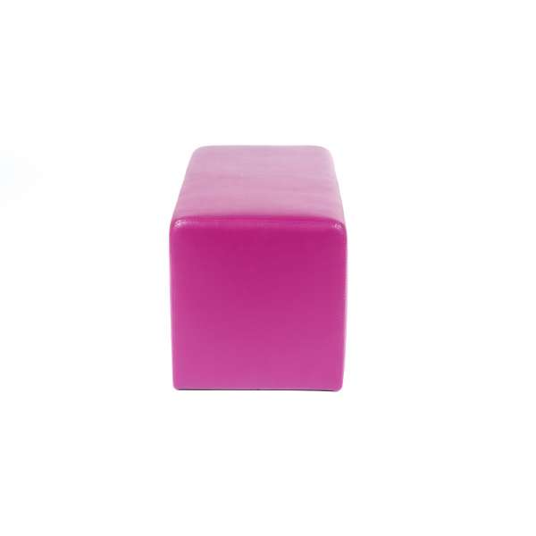 Pouf rectangulaire moderne magenta - Max Q78 - 23
